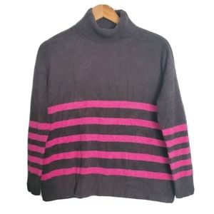 NWT Vince Camuto Pink Gray Turtleneck Sweater